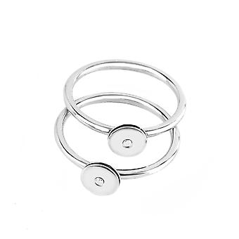 Calvin Klein steel ring and diamonds