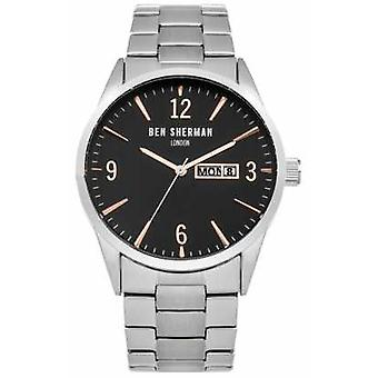 Ben Sherman Mens Stainless Steel Black Dial WB053BSM Watch