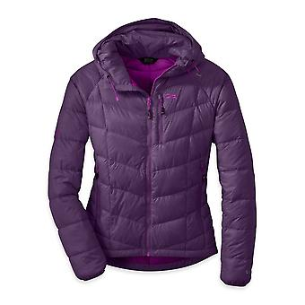 Outdoor Research Womens Sonata Hooded Down Jacket Elderberry (Small)