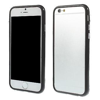 Støtfanger i TPU gummi og hard plast for Eple iPhone 6 4.7 (svart)