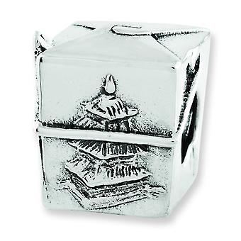 Sterling Silver Reflections Chinese Take Out Box Bead Charm