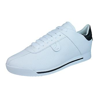 Geox D Chewa A Womens Leather Trainers / Shoes - White