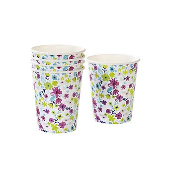 Talking Tables Truly Ditsy Floral Paper Cups for a Tea Party or Birthday (12 Pack)