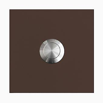 MOCAVI RING 115 stainless steel design ring Brown silky RAL 8017 square (7.5 x 7.5 x 2)