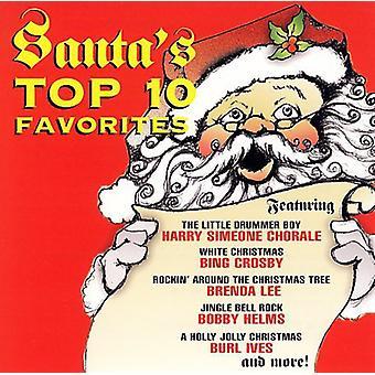 Santa's Top 10 favoritter - Santa's Top 10 favoritter [CD] USA importerer