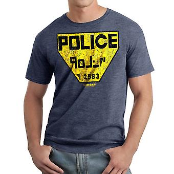 Femte Element politiet Logo mænds Navy Heather T-shirt