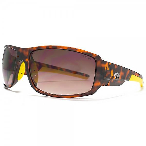 Animal Charge Square Wrap Sunglasses In Tortoiseshell