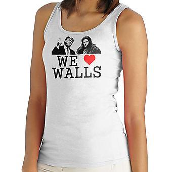 Wij houden van muren Jon Snow Bill Donald Trump spel van tronen vrouwen Vest