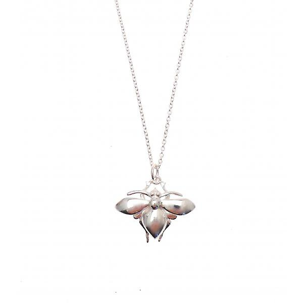 W.A.T 925 Sterling Silver Bee Shaped  Necklace