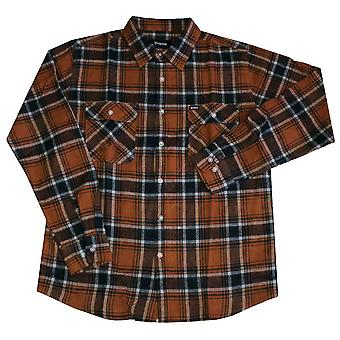 Brixton Bowery Long Sleeve Flannel Shirt Rust