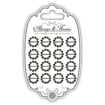 Craft Consortium Buckle Embellishment 16/Pkg-Small Circle AFCHRM15