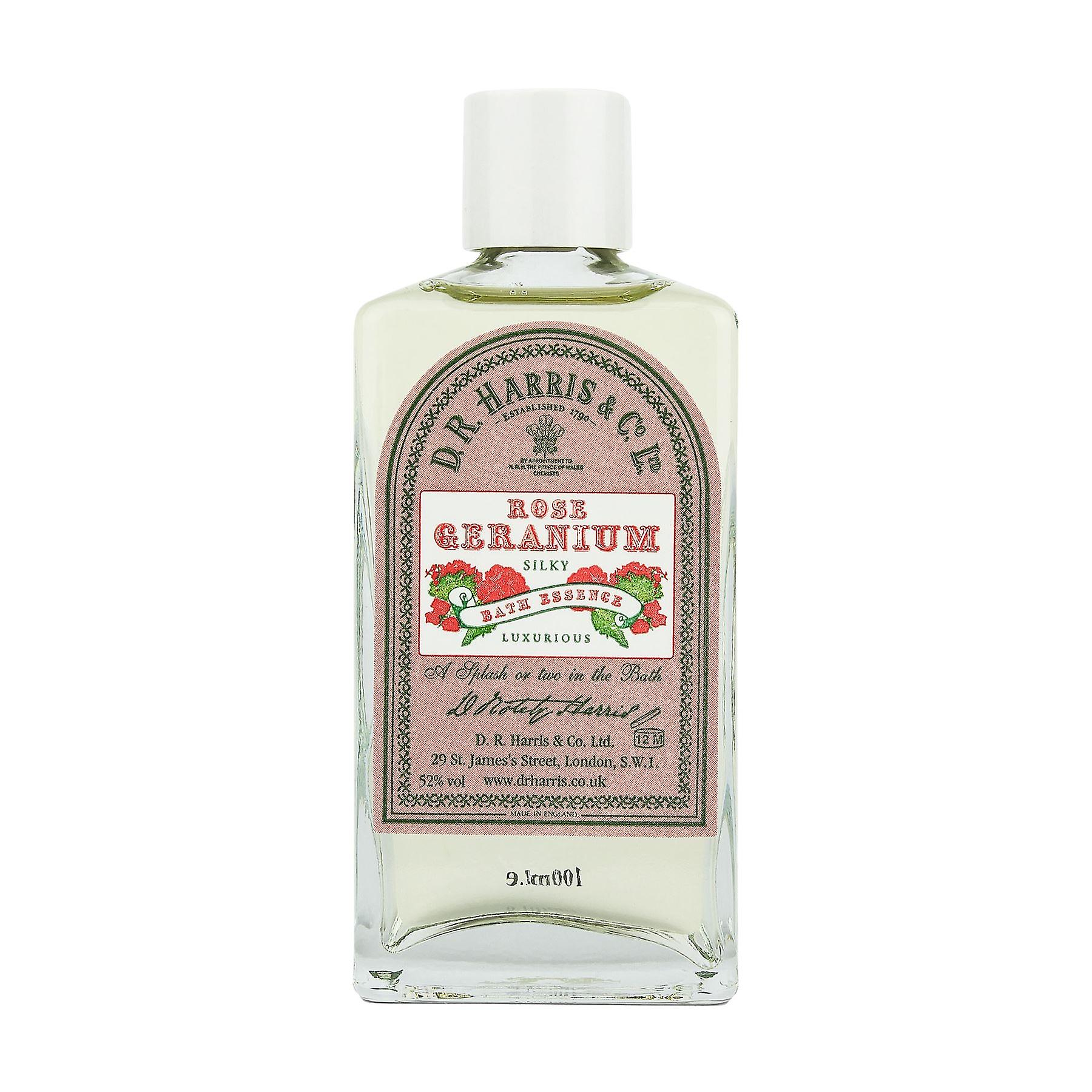 D R Harris Rose Geranium Bath Essence 100ml