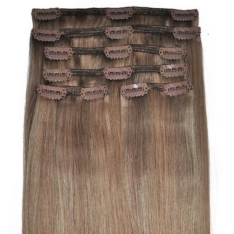 #18/8 - leichte braune, Brünette, Golden Blonde Mischung, Luxus, vollen Kopf, echte Clip in Hair Extensions - 100 % Remy, dreifach Schuß, dicken Menschenhaar