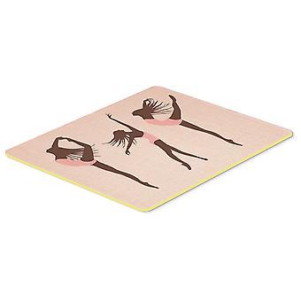 Carolines Treasures  BB5377CMT Dancers Linen Pink Kitchen or Bath Mat 20x30