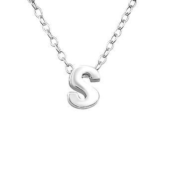 «S» - 925 стерлингового серебра Обычная ожерелья - W24296X