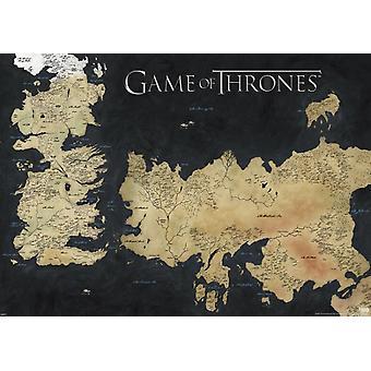 Game of Thrones - kort over Westeros - vægmaleri plakat plakat Print