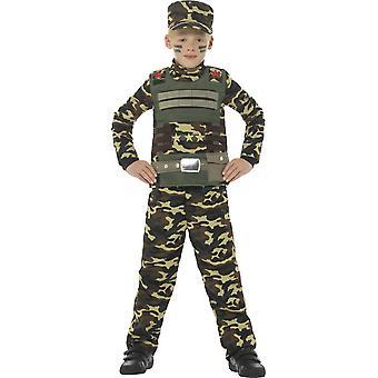 Bambini costumi da camuffamento dell'esercito per i ragazzi