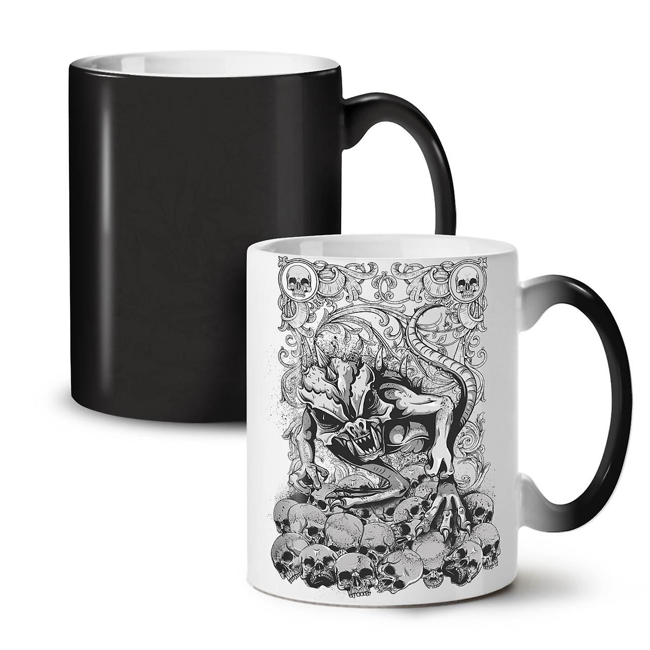 Satan L'enfer Changeant De Nouvelle OzWellcoda Horreur Tasse Couleur 11 Noir Thé Café Céramique Bête N0m8vwnO
