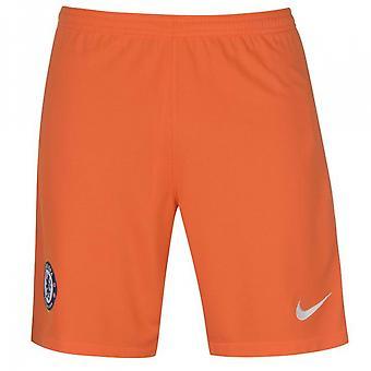 2017-2018 Chelsea Home Nike Goalkeeper Shorts (Orange) - Kids