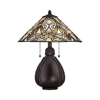 India Tiffany Style Table Lamp - Elstead Lighting Qz/india/tl