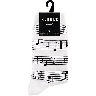 Novelty Crew Socks-Making Music - White NOVSOCKS-5H61W