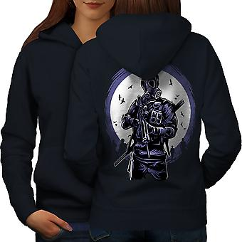 Horror Survival Fashion Women NavyHoodie Back | Wellcoda