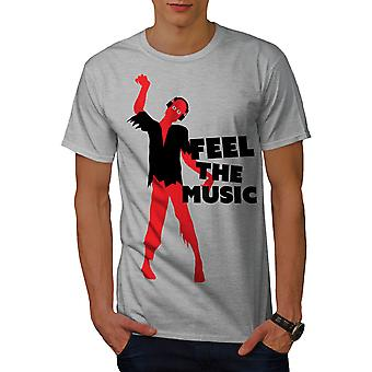 Zombie Feel Song Dj Music Men GreyT-shirt | Wellcoda
