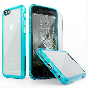 SaharaCase® iPhone 6/6s Oasis turquesa caja, paquete de Kit de protección claro con ZeroDamage® vidrio templado