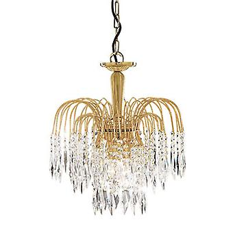 Searchlight 5173-3 Waterfall Gold 3 Light Ceiling Pendant