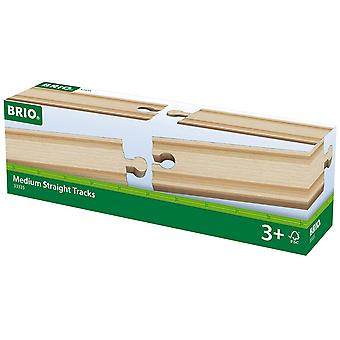 Brio World Railway Track - Medium Straights