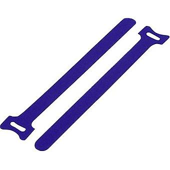 Hook-and-loop cable tie for bundling Hook and loop pad (L x W) 240 mm x 16 mm