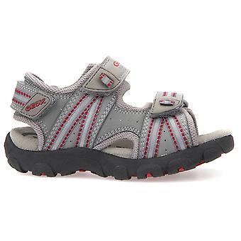 Geox sandały Strada J4224A chłopców szary czerwony