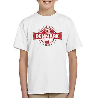 Denemarken halve wereld voetbal kampioenschap 2018 Kid's T-Shirt