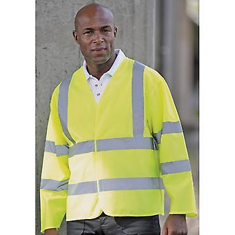 RTY Mens High Visibility Safety Workwear Motorway Coat Jacket Yellow, Orange
