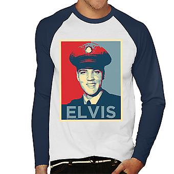Elvis Presley Inspired Art Men's Baseball Long Sleeved T-Shirt