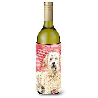 Amor un Goldendoodle vino botella Beverge aislador Hugger