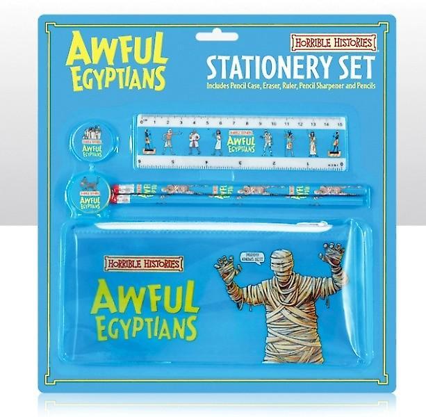 Afschuwelijke geschiedenis vreselijke Egyptenaren School Kit met potlood geval
