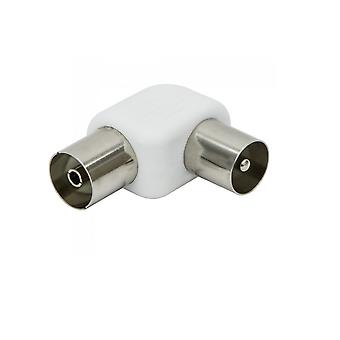 Maxview Coaxial RF Aerial Angle Male To Female Adapter