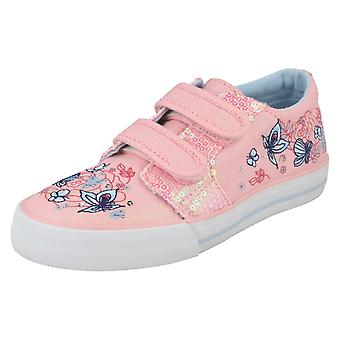 Girls Startrite Glittery Canvas Shoes Sorrento