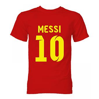 Barcelony Lionel Messi Hero T-Shirt (czerwony)