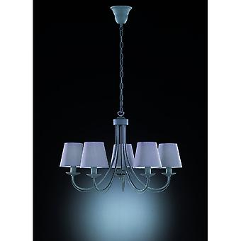 Trio Lighting Cortez Authentic Concrete Look Metal Chandelier