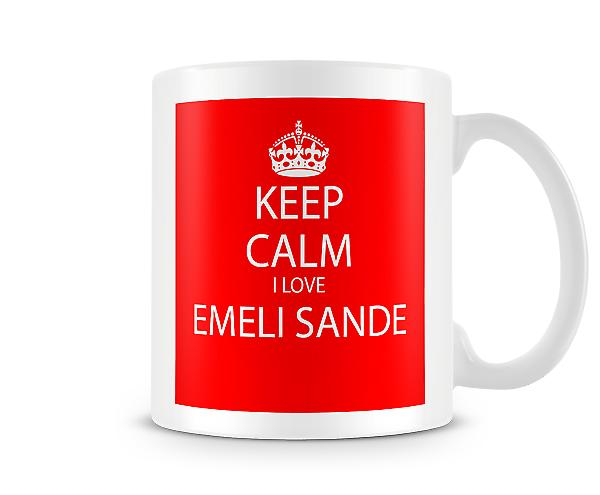 Keep Calm I Love Emeli Sande Printed Mug