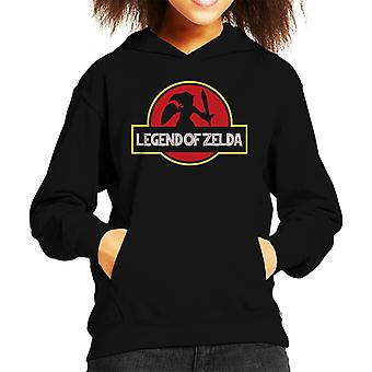 Legend Of Zelda Jurassic Park Logo Kid er hette Sweatshirt