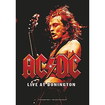 Ac/Dc Live At Donington Large Fabric Poster / Flag 1100Mm X 750Mm