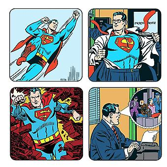 Superman Classic Boxed Set Of Drinks Mats / Coasters
