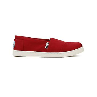 TOMS Youth Red Canvas Classic Espadrilles