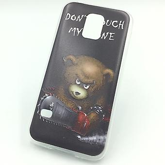 Cell phone case for Samsung Galaxy S5 mini bear dont touch Pocket cover motif slim