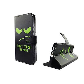 Mobile phone case pouch for mobile Samsung Galaxy A3 2017 dont touch my phone Green