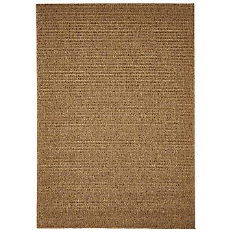 Outdoor carpet for Terrace / balcony of Brown natural plain Mocha 200 / 285 cm carpet indoor / outdoor - for indoors and outdoors