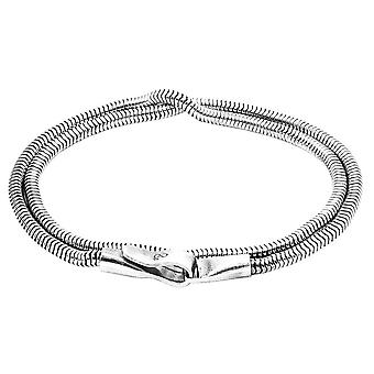 Anchor and Crew Gallant Double Sail Chain Bracelet - Silver